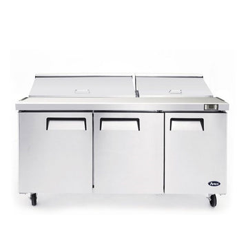 Atosa MSF8308GR 72-Inch Three-Door Mega top Sandwich Prep Table