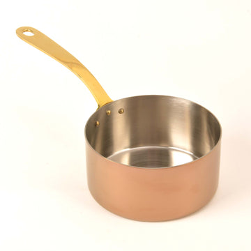 Stainless Steel PVD Sauce Pan in Rose Gold Finish - 20 Oz