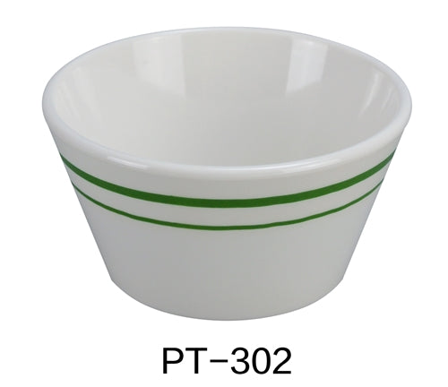 "Yanco PT-302 Pine Tree Bouillon Cup, 8 oz Capacity, 2"" Height, 3.75"" Diameter, Melamine, Pack of 48"