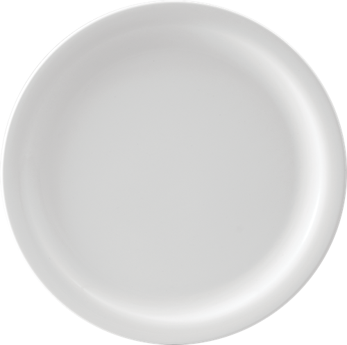 Melamine Round Dinner Plate, 11 inch White, Pack of 12