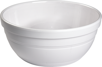 Melamine Ben Bowl 10.5 inch, 135 Oz. White, Pack of 3