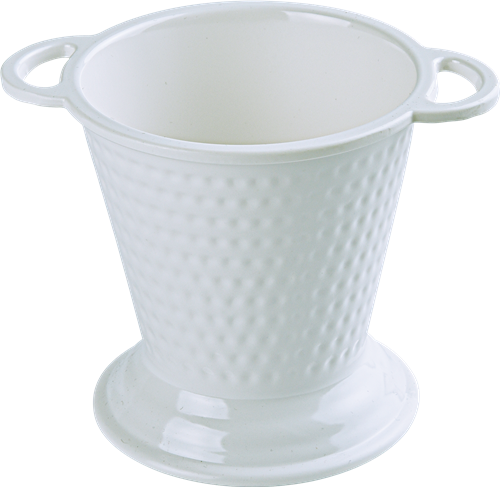 Melamine Balti Bucket Bowl, 5.75 inch White 14 Oz.-12/case