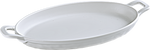 Melamine Oval Servo Dish W/Handle, White  9 x 6. - 12/Case