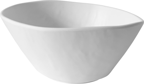 Melamine Dimple Bowl 6.5 inch, 25.4 Oz. White