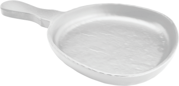 Melamine Serving Dish W/handle 11.9 inch x 7.6 inch White, Pack of 6