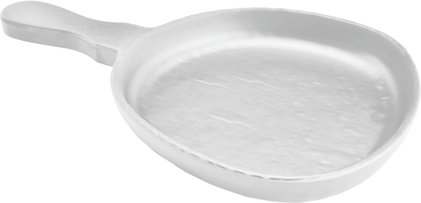 Melamine Serving Dish W/handle 14.5 inch x 9.25 inch White