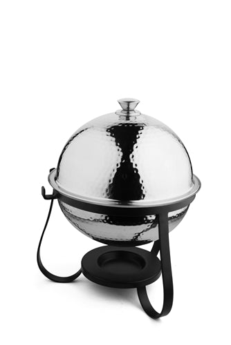 Stainless Steel Hammered Dome Shaped Chafing Dish - 7 Liters