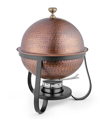 Stainless Steel Hammered Antique Finish Dome Chafing Dish - 7 Liters