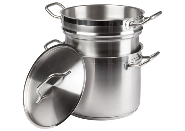 Winco SSDB-8S  8 Qt Stainless Steel Steamer/Pasta Cooker