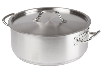 Winco SSLB-15 Stainless Steel Brazier with Cover