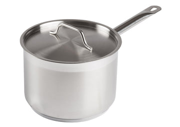Winco SSSP-4 Stainless Steel Sauce Pan 4.5 Qt with Cover