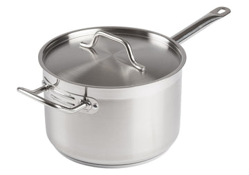 Winco SSSP-7 7.5 Qt. Stainless Steel Sauce Pan with Cover