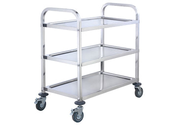 Winco Stainless Steel Trolley, 3 Tiers
