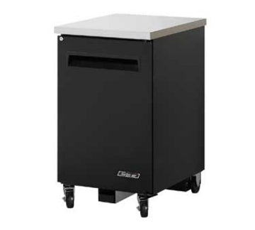 Turbo Air TBB-1SB-N6 Back Bar Cooler 24 inch With Solid Door & Lock, Black/Stainless