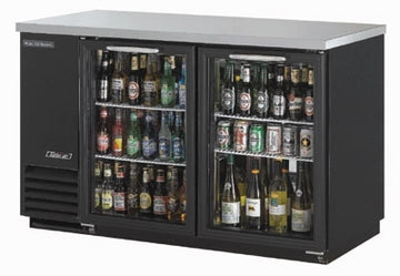 Turbo Air TBB-2SG-N Back Bar Cooler With 2-Glass Doors, Black/Stainless