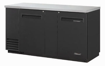 Turbo Air TBB-3SB-N6 Back Bar Cooler With 2-Solid Doors & Locks, Black & Stainless