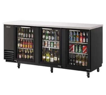 Turbo Air TBB-4SG-N Back Bar Cooler With Glass Doors, Black