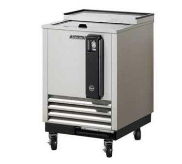 Turbo Air TBC-24SD 24-in Bottle Cooler With Sliding Door, Removable Cap Opener, Stainless
