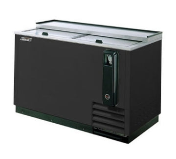 Turbo Air TBC-50SB Bottle Cooler With Stainless Countertop, 50-in W, Black