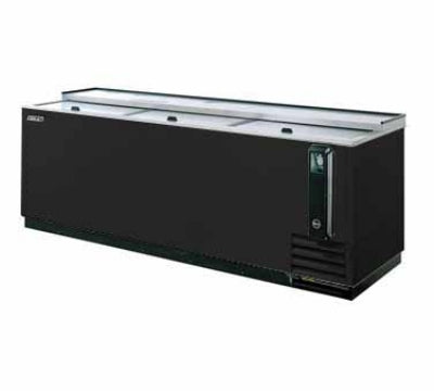 Turbo Air TBC-80SB-N 80-in Bottle Cooler With 3-Sliding Doors, Black