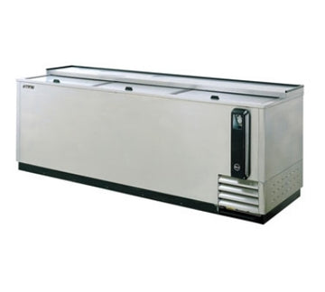 Turbo Air TBC-80SD 80-in Bottle Cooler With 3-Sliding Doors, Stainless