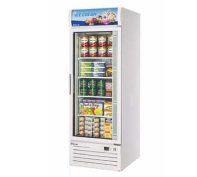 Turbo Air TGF-23F One-Section Freezer Merchandiser With Glass Door, 23-cu ft