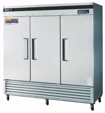 Turbo Air TSR-72SD-N Reach In Refrigerator With 3-Solid Door