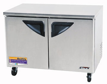 Turbo Air TUF-48SD-N Under counter Freezer With 2-Solid Door