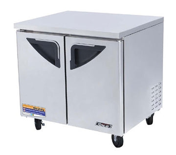 Turbo Air TUR-36SD-N6 Under counter Refrigerator With 2-Solid Door