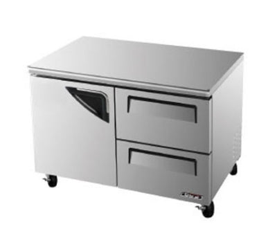 Turbo Air TUR-48SD-D2-N Under counter Refrigerator With Door & 2-Drawers