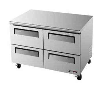 Turbo Air TUR-48SD-D4-N Under counter Refrigerator With 4-Drawers