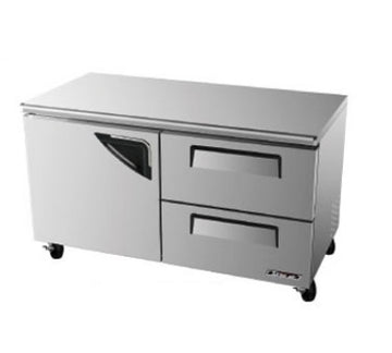 Turbo Air TUR-60SD-D2 Undercounter Refrigerator With Door & 2-Drawers