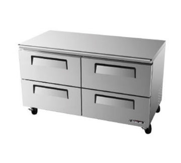 Turbo Air TUR-60SD-D4-N Under counter Refrigerator With 4-Drawers