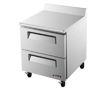 Turbo Air TWF-28SD-D2 1-Section Worktop Freezer With 2-Drawers