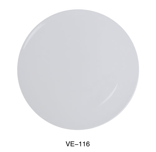 "Yanco VE-116 Venice Collection 16"" Round Pizza Plate, Melamine, White Color, Pack of 6"