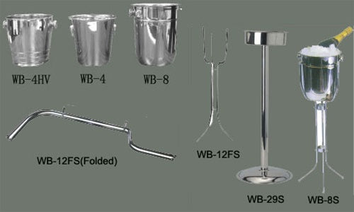 WINCO 4 Qts. Stainless Steel Wine Bucket