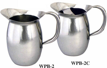 Winco Stainless Steel Bell Pitcher - 2 Qt.