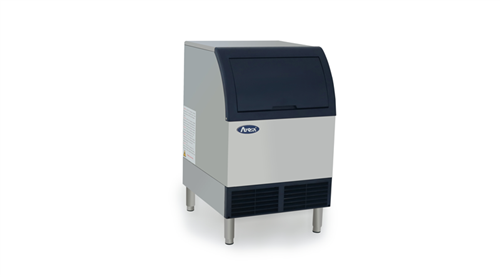 Atosa YR280-AP-161 Undercounter Ice Maker with 88 lb Storage Bin, Half-Diced Cube, 283 lbs/Day