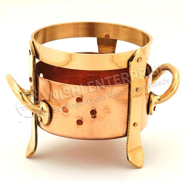Copper Food Warming Sigdi with Elegant Adornments - Small