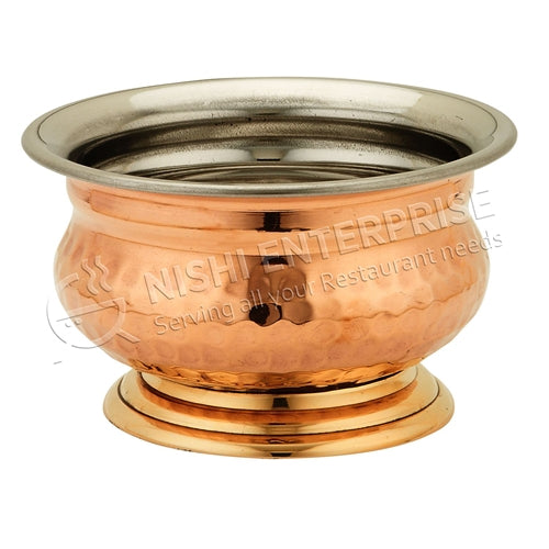 Copper/Steel Handi Bowl with Base - 16 Oz.