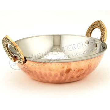 Copper/Stainless Steel Kadai # 2 - 16 Oz.