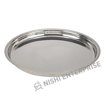 Rajdhani style Oval Stainless Steel Thali 17""