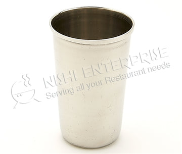 Stainless Steel Water Glass - Tin Cup-  10 Oz.