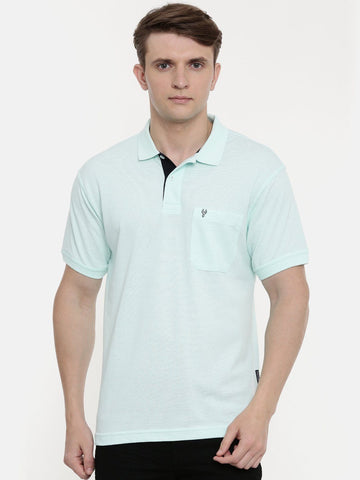 Men's Aruba blue polo t-shirt