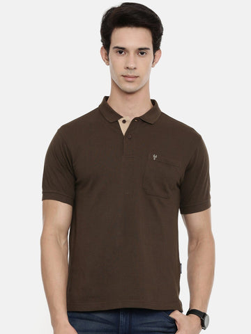 Classic Polo Men's Brown Polo T-shirt