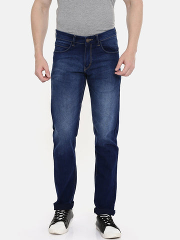 Men's dark blue denim