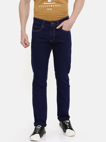 Navy Blue Jeans Slim Fit