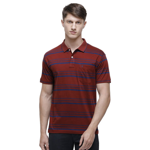Classic polo Men's Polo Neck Half Sleeve Maroon 100% Cotton T-Shirt (AP - 43 A AF P)