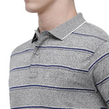 Classic polo Men's Polo Neck Half Sleeve Grey Cotton T-Shirt (AVON - 420 B AF P)