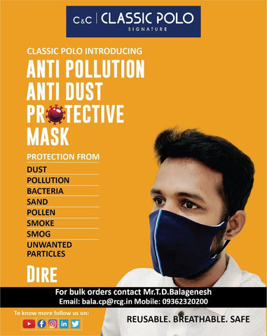 Anti-Pollution Mask (Pack of 2) - Dire